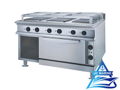 Marine Cooking Range with Oven (Square Hot Plate)