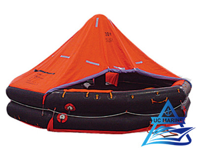 Both Sides of A Canopied Reversible Inflatable Liferafts