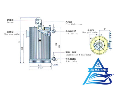 QXC Type Oil-fired Vertical Thermal Fluid Heater
