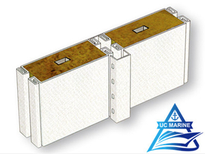 Type C Composite Rock Wool Wall Panel with Cable Slot