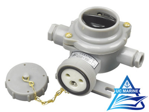 Marine Nylon Socket with Switch CZKS201