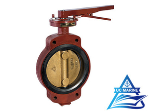 Marine Bronze Center-pivoted Screw-drive Manual Butterfly Valve