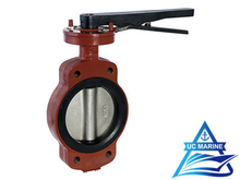 Marine Center-pivoted Handle-drive Manual Butterfly Valve