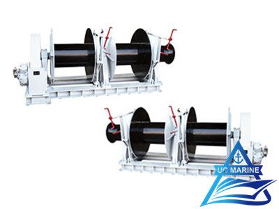 Two Drum Type Hydraulic Single Mooring Winch
