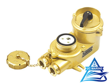 Marine Brass Watertight Socket with Chain Switch