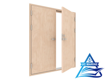 Marine Double Leaf Wooden Fire Rated Door