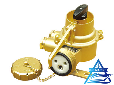 Shipboard Brass Watertight Socket with Chain Switch