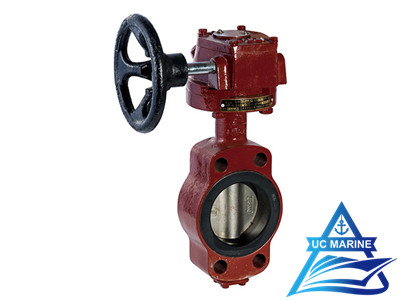 Marine Center-pivoted Worm-drive Manual Butterfly Valve