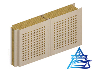 Composite Rock Wool Perforated Sound Reduction Wall Panel