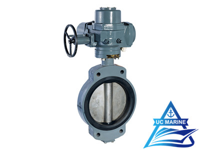 D Type Marine Center-pivoted Electric-drive Butterfly Valve