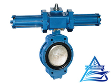 Marine Duo-eccentric-pivoted Hydraulic-drive Butterfly Valve