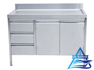 Marine Worktop Cupboard with Upstand