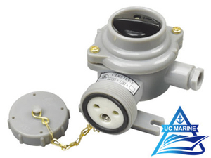 Marine Nylon Socket with Switch CZKS109