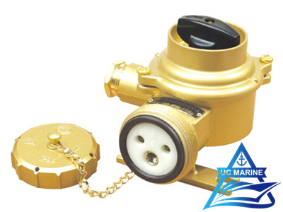 Marine Brass Socket with Switch TJCZKH101