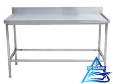 Marine Work Table with Upstand