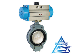 Marine Duo-eccentric-pivoted Pneumatic-drive Butterfly Valve