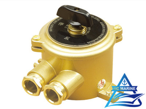 Marine Brass Three Pole Transfer Switch