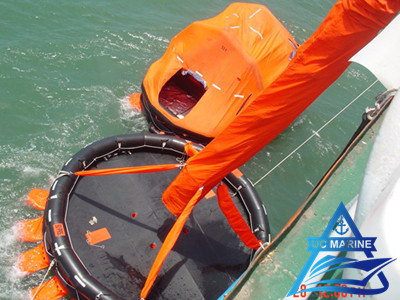 Single Chute Vertical Passage Marine Evacuation System
